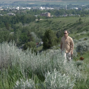 West Paw CEO Spencer Williams in the hills above Bozeman
